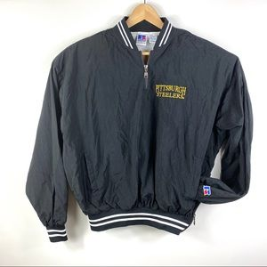 Vgt 90s Russell Athletic Steelers 1/4 zipup jacket